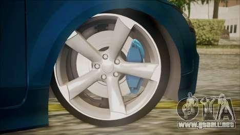 Audi TT RS 2011 v3 para GTA San Andreas vista posterior izquierda