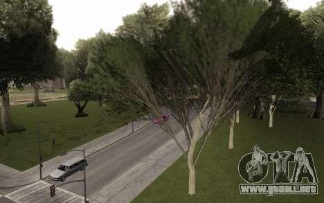 Una copia de la original de los árboles para GTA San Andreas segunda pantalla