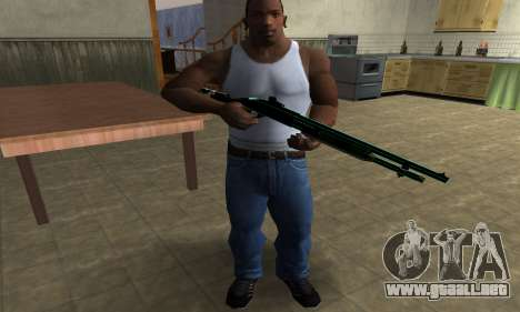 Green Guy Shotgun para GTA San Andreas tercera pantalla
