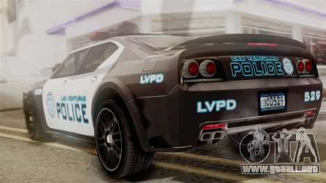 Hunter Citizen from Burnout Paradise Police LV para GTA San Andreas left