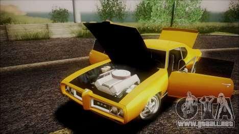 Pontiac GTO 1968 para visión interna GTA San Andreas