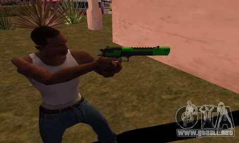 Deagle Green Style para GTA San Andreas