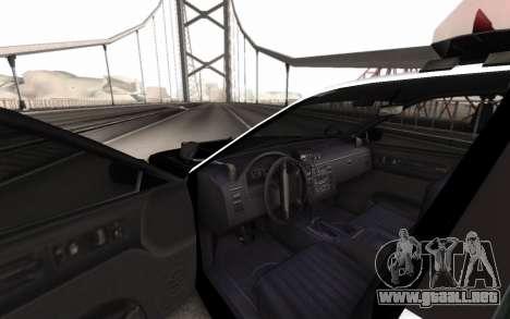 GTA 5 Stanier Police para GTA San Andreas vista posterior izquierda