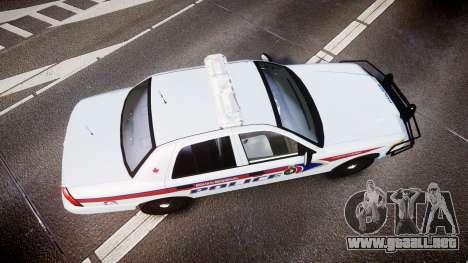 Ford Crown Victoria Bohan Police [ELS] para GTA 4 visión correcta