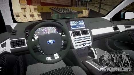 Ford Falcon FG XR6 Turbo para GTA 4 vista hacia atrás