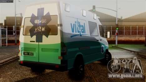 Mercedes-Benz Sprinter Ambulance Vittal para GTA San Andreas left