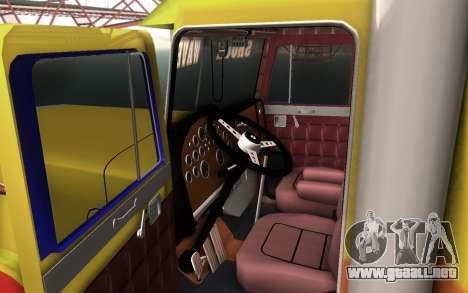 ShockWave Jet Truck para GTA San Andreas vista posterior izquierda
