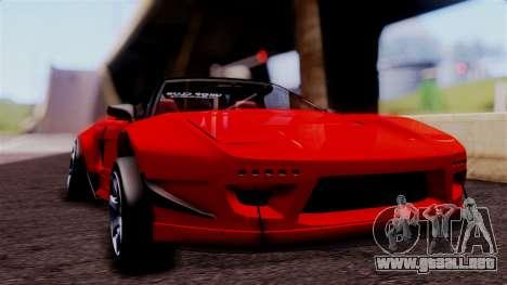 Honda NSX para GTA San Andreas vista hacia atrás
