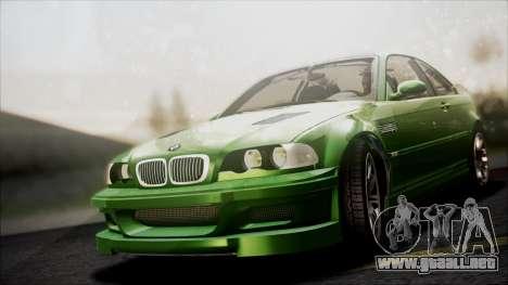 BMW M3 GTR Street Edition para la vista superior GTA San Andreas