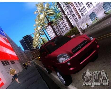 Hyundai Tucson para GTA San Andreas vista hacia atrás
