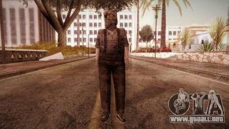 RE4 Dr. Salvador from Mercenaries para GTA San Andreas segunda pantalla