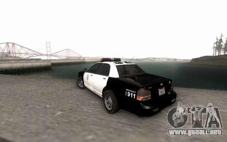 GTA 5 Stanier Police para GTA San Andreas left