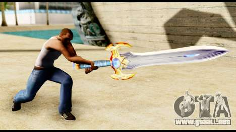 Espada del paladín para GTA San Andreas tercera pantalla