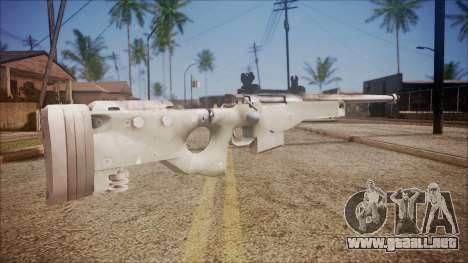 L96 from Battlefield Hardline para GTA San Andreas segunda pantalla