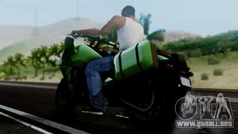 Dinka Vindicator GTA 5 Plate para GTA San Andreas vista posterior izquierda
