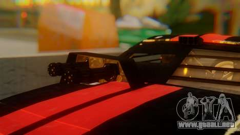 Shelby GT500 Death Race para GTA San Andreas vista hacia atrás