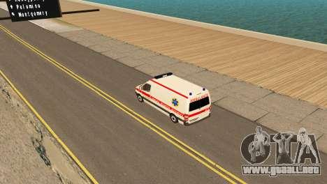 Mercedes-Benz Sprinter Ambulancia Ucrania para la visión correcta GTA San Andreas