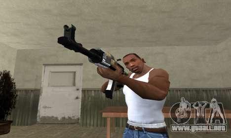 Cool Black AK-47 para GTA San Andreas segunda pantalla