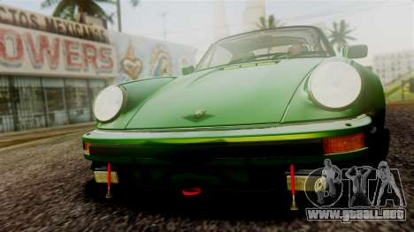 Porsche 911 Turbo (930) 1985 Kit A PJ para la vista superior GTA San Andreas