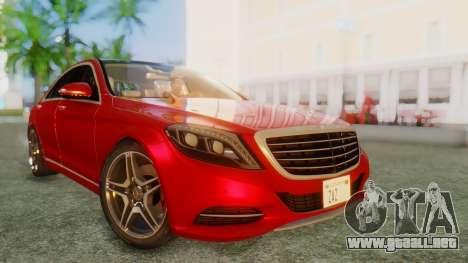 Mercedes-Benz S63 W222 AMG para GTA San Andreas