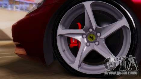 Ferrari California v2.0 para la visión correcta GTA San Andreas