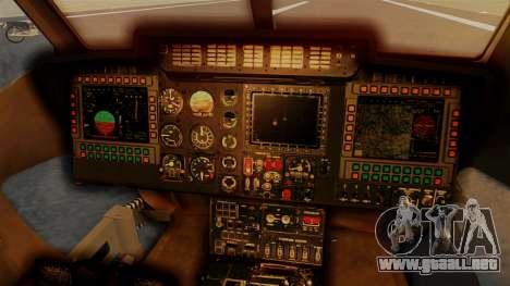 PZL W-3PL Grouse para GTA San Andreas vista hacia atrás