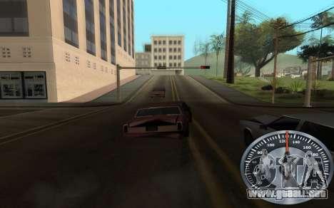 Hierro velocímetro para GTA San Andreas sucesivamente de pantalla