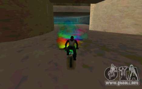 Bike Smoke para GTA San Andreas sucesivamente de pantalla