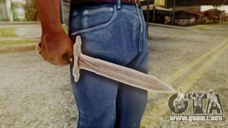 Iron Dagger para GTA San Andreas segunda pantalla