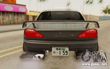 Nissan Silvia S15 Stance para GTA San Andreas vista hacia atrás
