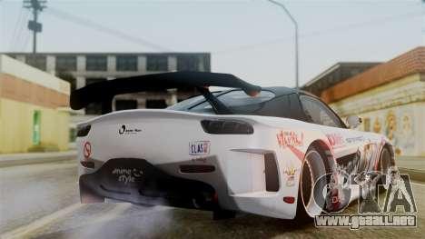 Mazda RX-7 Veilside Mugi Itasha para GTA San Andreas left