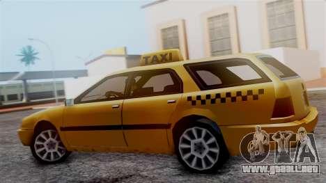 Stratum Taxi para GTA San Andreas vista posterior izquierda