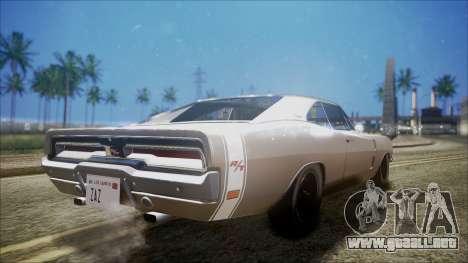 Dodge Charger RT 1969 para GTA San Andreas vista posterior izquierda