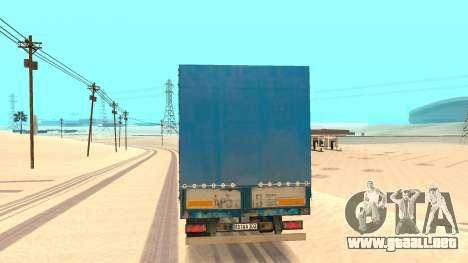 La inclinación del remolque para GTA San Andreas vista posterior izquierda
