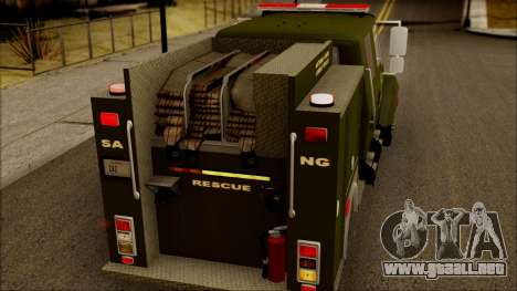 SANG Combat Rescue International para vista lateral GTA San Andreas