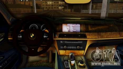 BMW 7 Series F02 2013 para la visión correcta GTA San Andreas