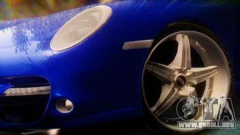 Porsche 911 2010 Cabrio para GTA San Andreas vista posterior izquierda
