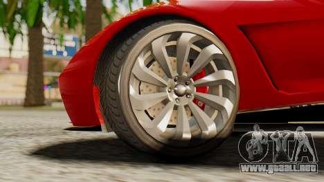 Pegassi Osyra para GTA San Andreas vista posterior izquierda