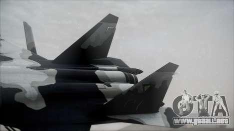 SU-47 Berkut Grabacr Ace Combat 5 para GTA San Andreas vista posterior izquierda