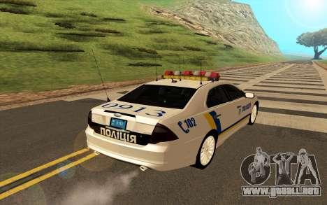 Ford Taurus Ukraine Police para la visión correcta GTA San Andreas