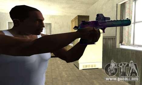Space Deagle para GTA San Andreas segunda pantalla