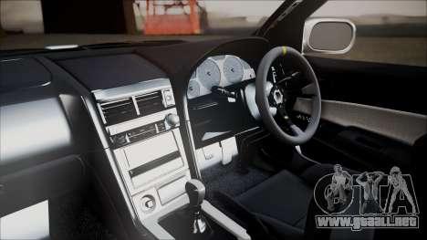 Nissan Skyline ER34 GT-Shop para la visión correcta GTA San Andreas