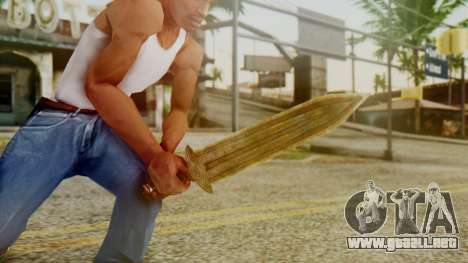 Dwarven Dagger para GTA San Andreas tercera pantalla