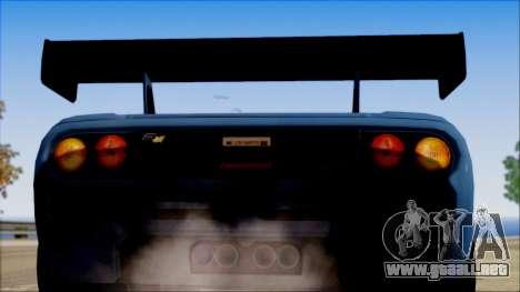 McLaren F1 LM 1995 para la visión correcta GTA San Andreas