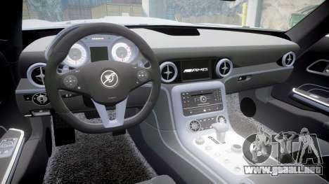 Mercedes-Benz SLS AMG para GTA 4 vista hacia atrás