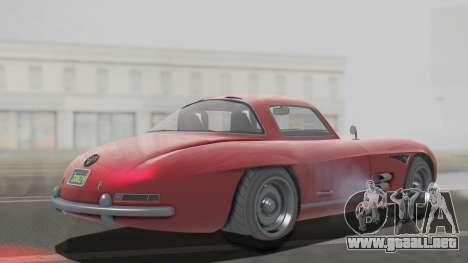 GTA 5 Benefactor Stirling para GTA San Andreas vista posterior izquierda