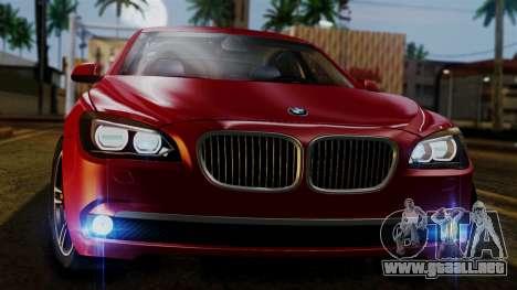 BMW 7 Series F02 2013 para vista lateral GTA San Andreas