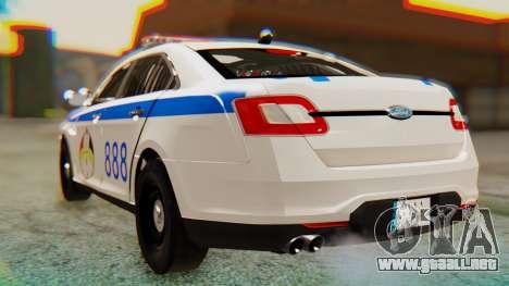 Ford Taurus Iraq Police v2 para GTA San Andreas left