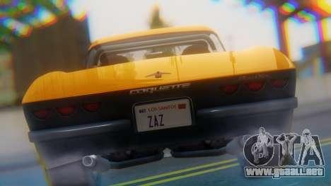Invetero Coquette BlackFin Not Convertible para GTA San Andreas vista hacia atrás