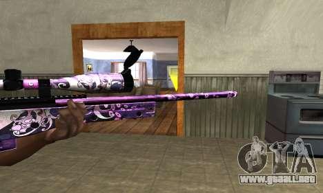 Neon Sniper Rifle para GTA San Andreas segunda pantalla
